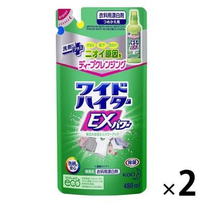 花王ワイドハイターEXパワー 詰め替え 480ml 1セット(2個入) 衣料用漂白剤 花王