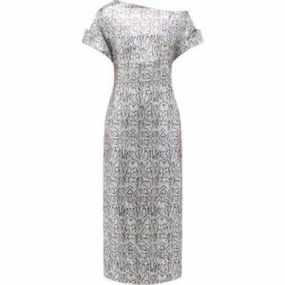 クリストファー ケイン Christopher Kane レディース パーティードレス ワンピース・ドレス Asymmetric snake-print sequinned dress Sil