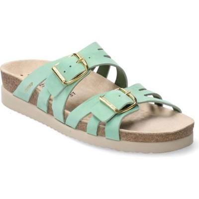 メフィスト MEPHISTO レディース サンダル・ミュール スライドサンダル シューズ・靴 Helisa Slide Sandal Mint Nubuck Leather