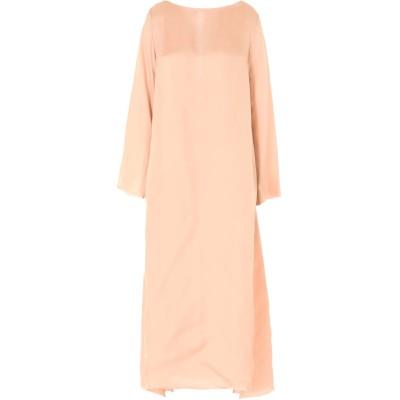 DANIELA PANCHERI ロングワンピース&ドレス ローズピンク 44 レーヨン 100% ロングワンピース&ドレス