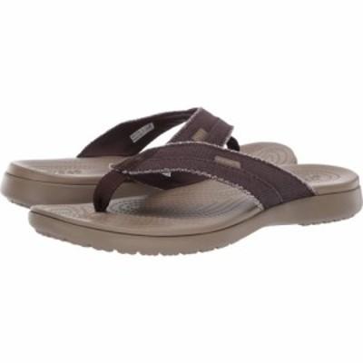 クロックス Crocs メンズ ビーチサンダル シューズ・靴 Santa Cruz Canvas Flip Espresso/Khaki