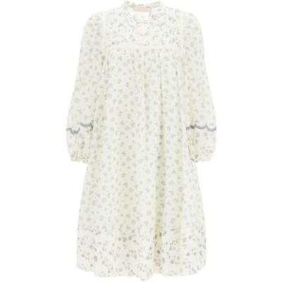 SEE BY CHLOE/シーバイクロエ ワンピース WHITE GREY See by chloe cotton voile dress prairie motif レディース 春夏2021 CHS21SRO1803