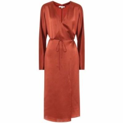 ヴィンス Vince レディース パーティードレス ラップドレス ワンピース・ドレス Silk-satin wrap dress