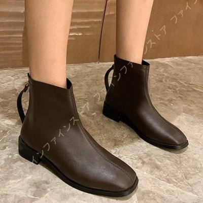 ブーツ ハイヒール 黒 ファスナー レディース ショート ショートブーツ グレー 大きいサイズ ミドルブーツ ジップデザイン 5.5センチヒール 長靴