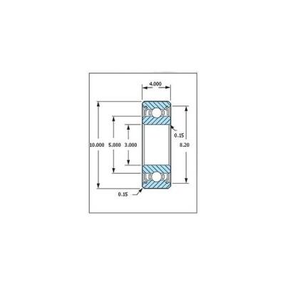 ミネベア ボール・ベアリング DDR-1030ZZ ステンレス 3x10x4mm