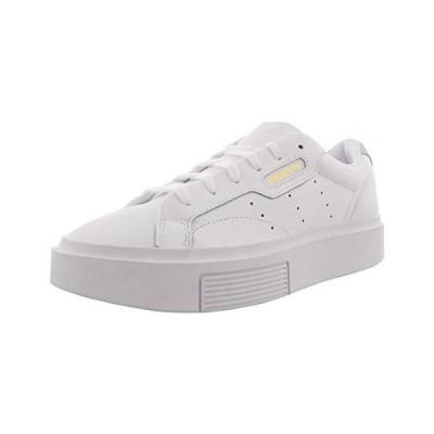 adidas Originals womens Sleek Super Sneaker, Cloud White Crystal White Core Black, 6.5 US