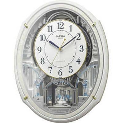 リズム時計 Small World 電波からくり時計 スモールワールドアルディN 4MN553RH03