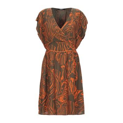 SISTE' S ミニワンピース&ドレス ミリタリーグリーン S レーヨン 100% ミニワンピース&ドレス