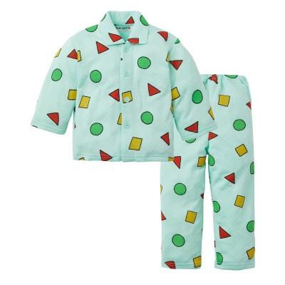 【クレヨンしんちゃん】ニットキルト前開き長袖パジャマ(男の子 女の子 子供服) キッズパジャマ, Kids' Pajamas