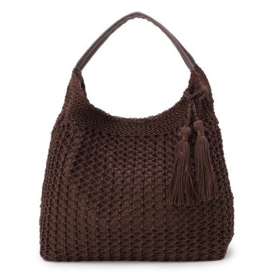 トートバッグ バッグ 透かし編みトート