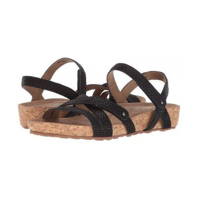 Walking Cradles ウォーキングクレイドル レディース 女性用 シューズ 靴 サンダル Pool - Black Matte Snake Print/Cork Wrap