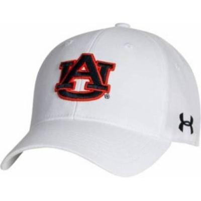 アンダーアーマー メンズ 帽子 アクセサリー Under Armour Men's Auburn Tigers Adjustable White Hat