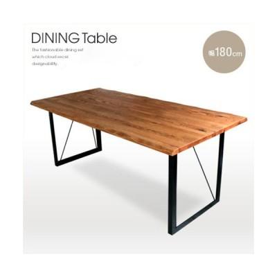 ダイニングテーブル 無垢 北欧 アンティーク 北欧風 6人掛け 180cm 一枚板風 天然木 gkw