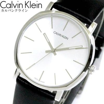 CK カルバンクライン Calvin Klein 腕時計 ウォッチ メンズ レディース POSH ポッシュ 40mm シルバー ブラック レザー K8Q311C6