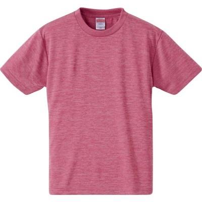 UnitedAthle ユナイテッドアスレ 4 . 1オンス ドライアスレチックTシャツ キッズ 590002HC ヘザーピンク