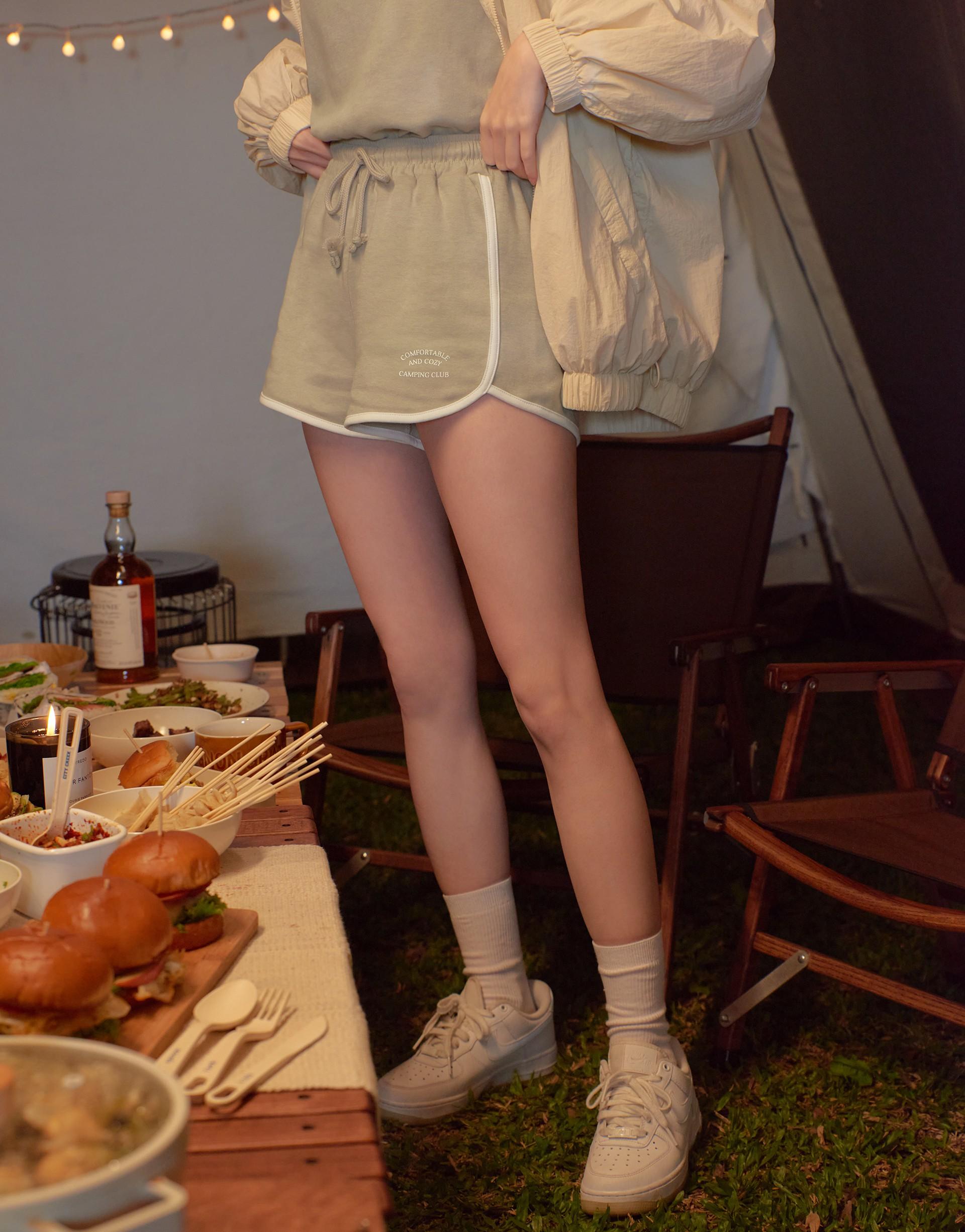 MIT CAMPING 印花配色套裝(背心+短褲)-PAZZO