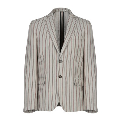 EXIBIT テーラードジャケット ベージュ 48 麻 60% / コットン 40% テーラードジャケット