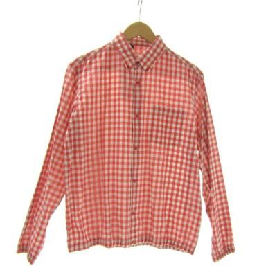 【11月12日値下】N.HOOLYWOOD スナプボタンチェックシャツ レッド×グレー サイズ:36 (三宮店)