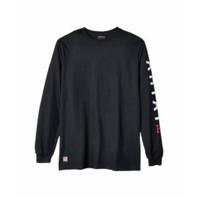 アリアト メンズ シャツ トップス FR Roughneck Skull Logo T-Shirt Black