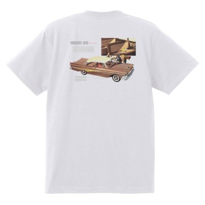 アドバタイジング フォード 857 白 Tシャツ 黒地へ変更可 1958 サンダーバード サンライナー ギャラクシー エドセル フェアレーン f100