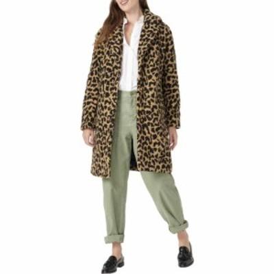ジェイクルー J.Crew レディース コート アウター Leopard Ariana Sherpa Topcoat Tan Brown