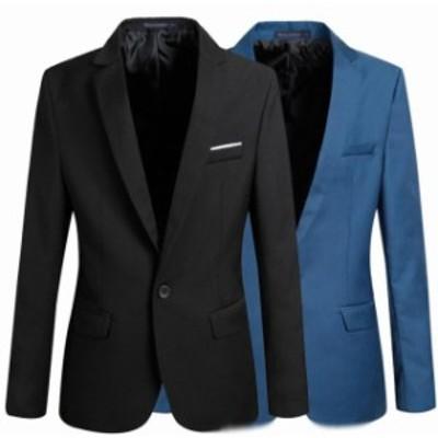 メンズ スーツ ジャケット カジュアル 長袖スーツジャケット テラードジャケット テラードコートフォーマルコート ビジネス 通勤コート