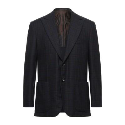 KITON テーラードジャケット ダークブルー 52 ウール 90% / カシミヤ 10% テーラードジャケット