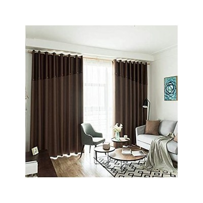 Blackout Curtain Panels Solid Ring Top, Room Dividers Curtain Noise Reducin