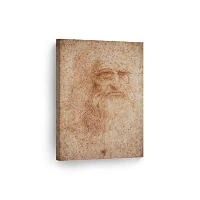 Smile Art Design Portrait of a Man in Red Chalk Leonardo Da Vinci Self Portrait Canvas Wall Art Canvas Print Famous Art Painting Reproductio