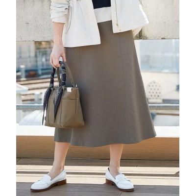 J.PRESS/ジェイプレス 【透けにくい】洗えるTCリネンツイル スカート カーキ系 7