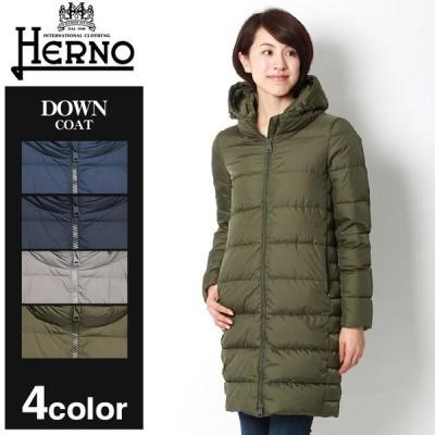 (クーポンで500円OFF) ヘルノ ジャケット レディース ダウン コート HERNO PI0662D ブルー ネイビー カーキ アウター トップス ジップアップ ブランド