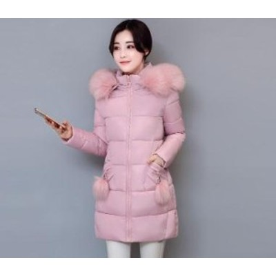 人気  レディース ダウンジャケット 冬季着 通勤 ロングコート アウターコート ロング丈 フード付き ファー 厚手 ビッグサイズ
