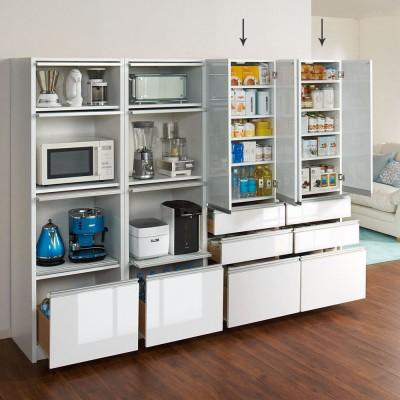 家電が隠せる!シンプルキッチンストッカー食器棚 高さ180cm