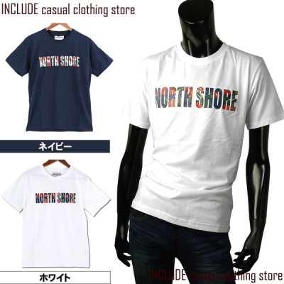 Tシャツ 半袖 ロゴ 花柄 メンズ アメカジ プリント ロゴT カットソー