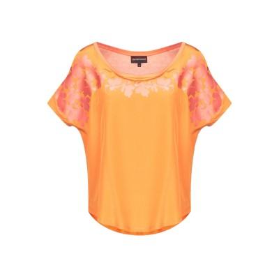 エンポリオ アルマーニ EMPORIO ARMANI T シャツ オレンジ 40 コットン 50% / レーヨン 50% T シャツ