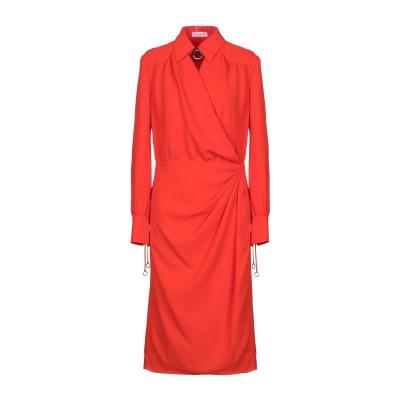 アルチュザラ ALTUZARRA 7分丈ワンピース・ドレス オレンジ 34 ポリエステル 100% / 牛革(カーフ) 7分丈ワンピース・ドレス