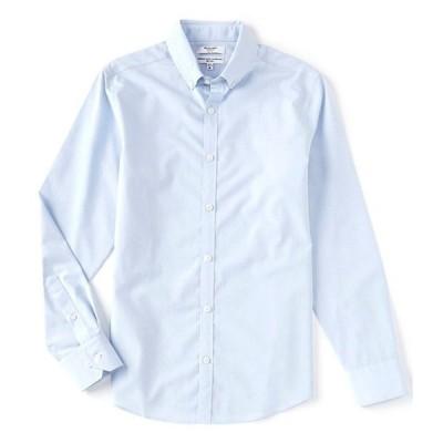 ムラノ メンズ シャツ トップス Slim-Fit Non-Iron Italian Solid Long-Sleeve Woven Shirt