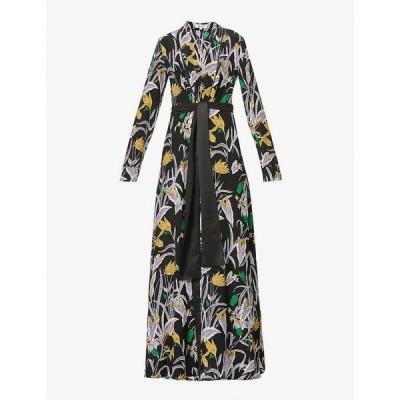 ダイアン フォン ファステンバーグ DIANE VON FURSTENBERG レディース パーティードレス Bonnie floral-print silk dress Bali Flower Large Black