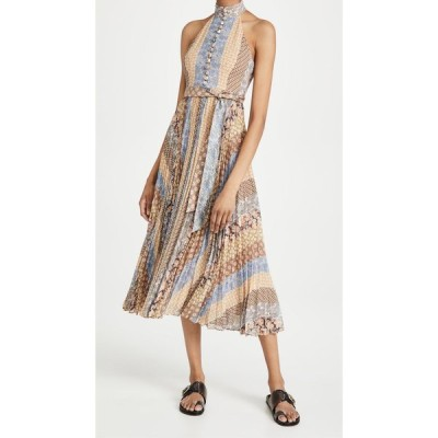 ジマーマン Zimmermann レディース ワンピース Aライン ワンピース・ドレス Sunray Tiered Picnic Dress Tiled Stripe