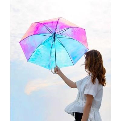 傘 プラスチックアンブレラ(ビニール傘) オーロラアンブレラ(手開き)