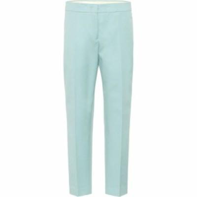 ジル サンダー Jil Sander レディース クロップド ボトムス・パンツ Cropped cotton pants Light/Pastel Blue