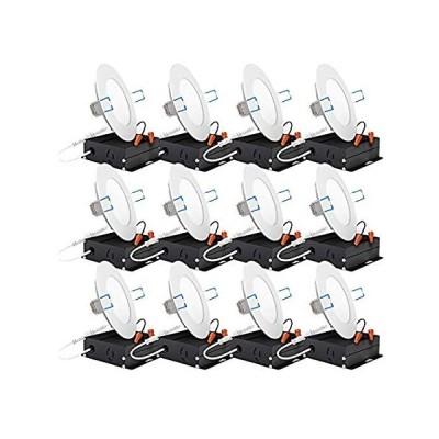 特別価格Sunco Lighting 12個パック 4インチ スリム 超薄型 埋め込み式 レトロフィットキット LED 天井照明器具 ジャンクションボックス付好評販売中