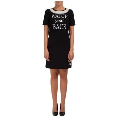 モスキーノ レディース ワンピース トップス Moschino Watch Your Back Printed T-Shirt Dress -