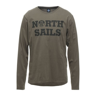 ノースセール NORTH SAILS T シャツ ミリタリーグリーン L コットン 100% T シャツ