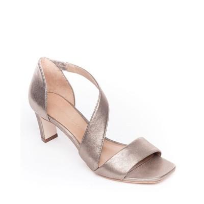 ベルナルド レディース サンダル シューズ Camille Metallic Leather Crossover Strap Sandals