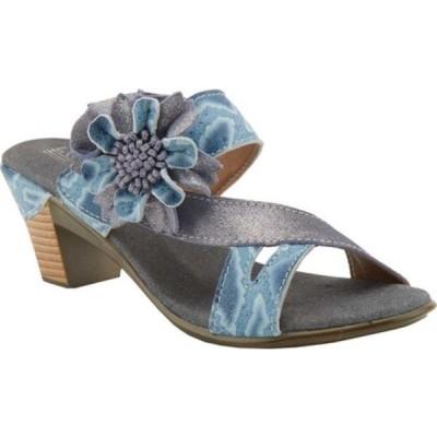 スプリングステップ サンダル シューズ レディース Cassana Heeled Slide (Women's) Blue Leather