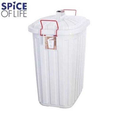 P10倍 SPICE OF LIFE PALE×PAIL ダストボックス 蓋付 ゴミ箱 チャコールグレー×ホワイト IWLY4010WH WH ペールペール スパイス