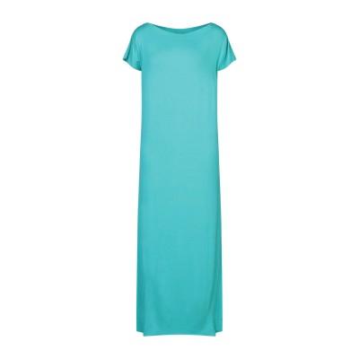 カルラ ジー CARLA G. ロングワンピース&ドレス ターコイズブルー 40 レーヨン 93% / ポリウレタン 7% ロングワンピース&ドレス