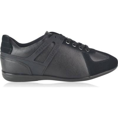 ヴェルサーチ VERSACE COLLECTION メンズ スニーカー ローカット シューズ・靴 Low Top Logo Trainers Black