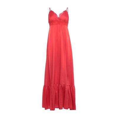 ピンク メモリーズ PINK MEMORIES ロングワンピース&ドレス レッド 38 コットン 55% / シルク 45% ロングワンピース&ドレス